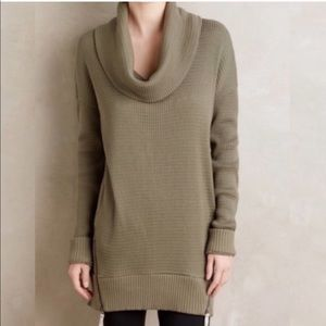 Pure + Good Anthropologie Cowl Neck Waffle Sweater